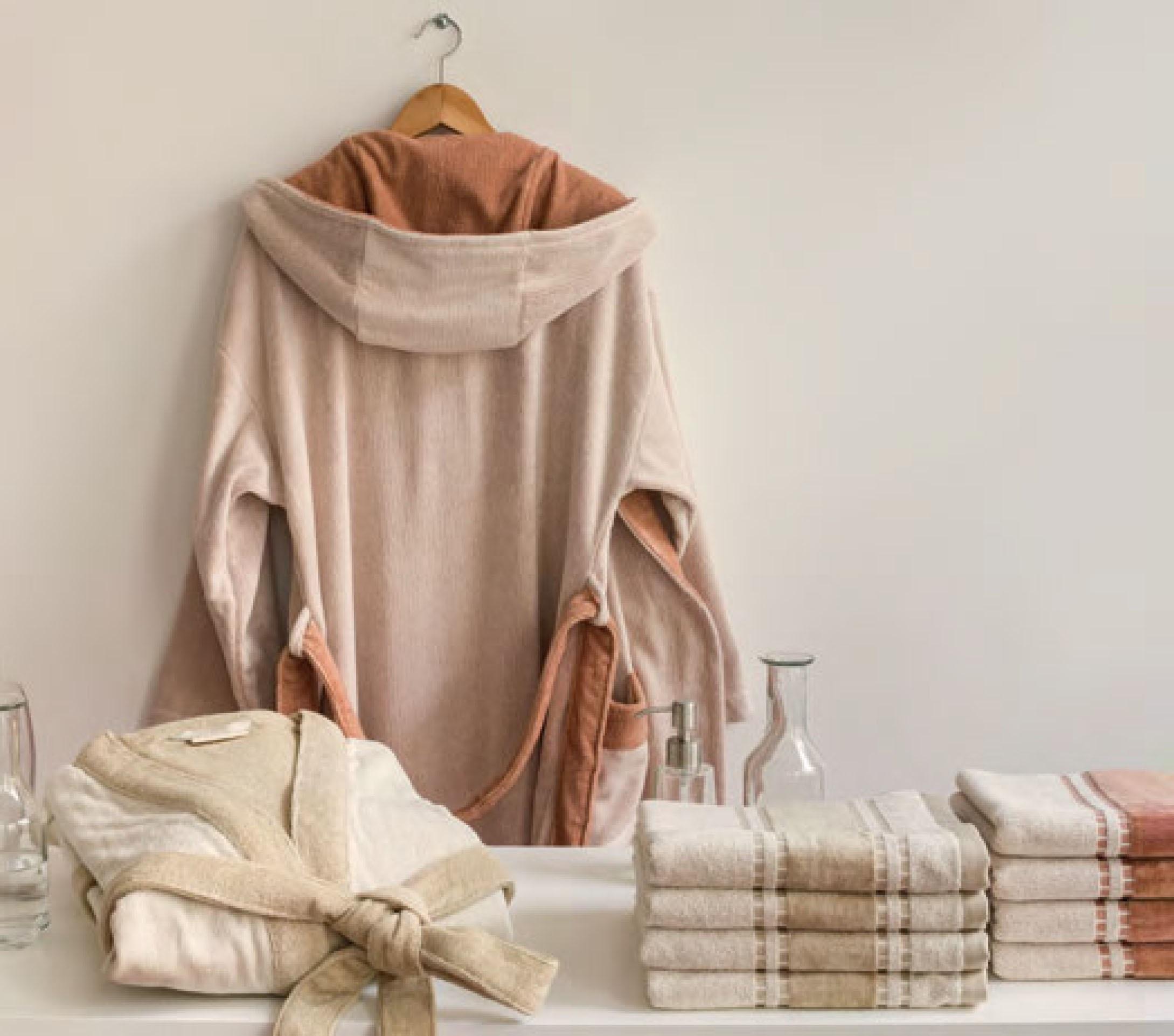 badjas super luxe met handdoeken65